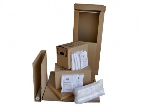 Umzugspaket 4-5 Zimmer - 80 Kartons + Zubehör